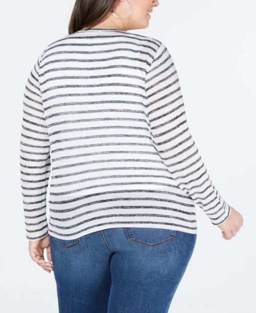 INC Plus Size 3X White Pullover Top