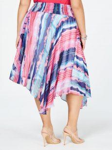 INC Plus Size 3X Multi Asymmetrical Skirt