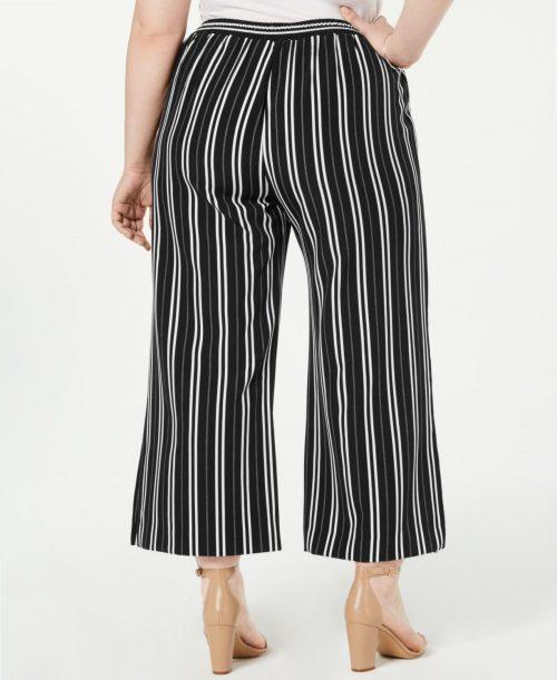 NY Collection Plus Size 3XP Black Straight-Leg Pants
