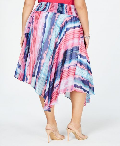 INC Plus Size 3X Multi Asymmetrical Skirt