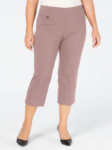 Alfani Plus Size 26W AVER Dark Pink Capris Cropped Pants