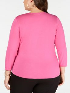 INC Plus Size 4X Pink Blouse Top