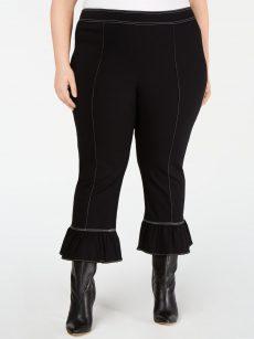 INC Plus Size 20W Black Flare Pants