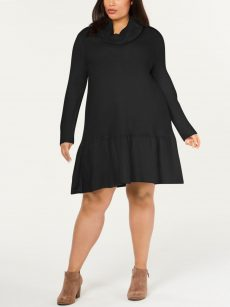 NY Collection Plus Size 1X Black Sweaterdress Dress