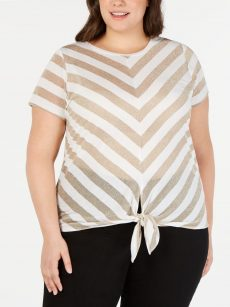 INC Plus Size 4X White Pullover Top