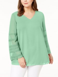Alfani Plus Size 0X Mint Blouse Top