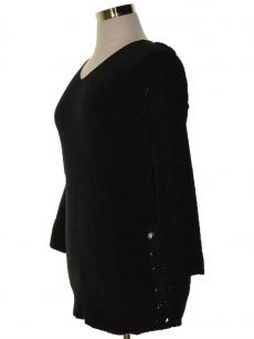 Style & Co. Women Size Small S Black Pullover Sweater