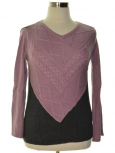 Style & Co. Women Size Small S Black Purple Pullover Sweater