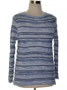 Style & Co. Women Size Large L Blue Pullover Sweater