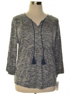 Style & Co. Plus Size 2X White Blue Sweatshirt Sweater