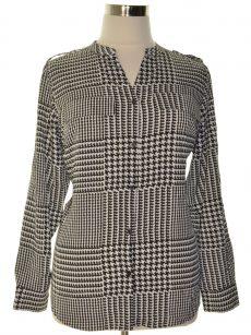 Calvin Klein Plus Size 0X Gray Blouse Top