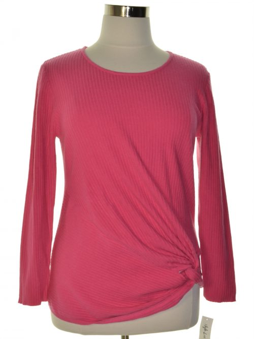 Style & Co. Women Size Large L Pink Pullover Sweater