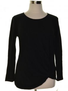 Style & Co. Women Size Large L Black Pullover Sweater