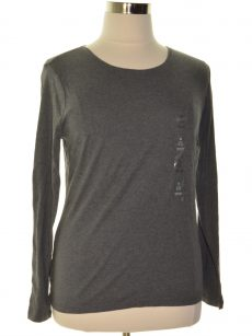 Charter Club Women Size XL Charcoal Pullover Top