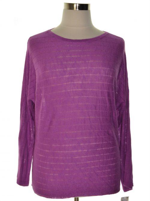 Style & Co. Women Size Medium M Purple Sweatshirt Sweater