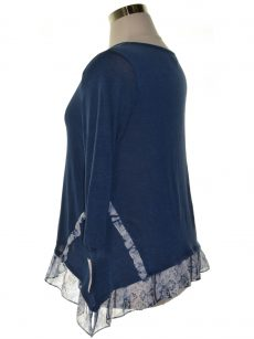 Style & Co. Women Size Large L Blue Pullover Top