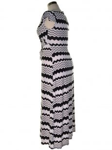 Thalia Sodi Women Size Small S Black White Maxi Dress