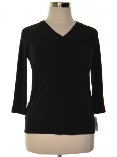 Charter Club Women Size Small S Black Pullover Top