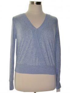 BCX Women Size Large L Blue Sweatshirt Sweater