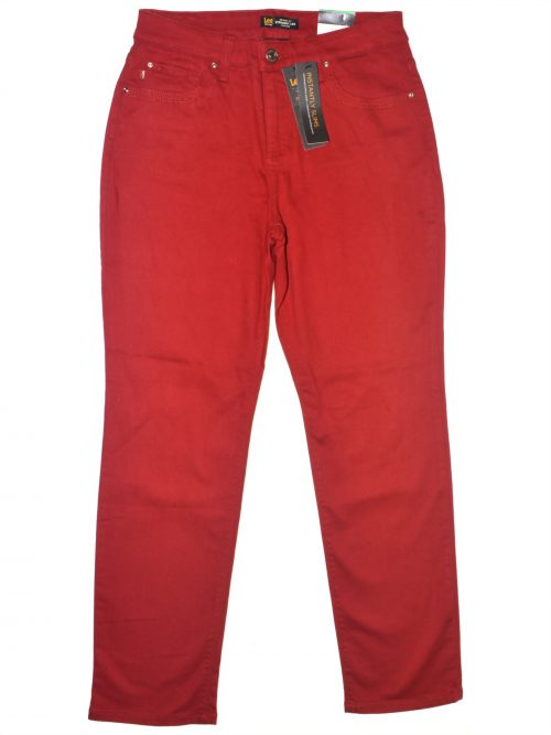 Lee Platinum Label Petites Size 10P Red Straight Leg Jeans