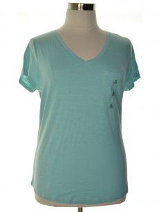 Maison Jules Women Size XXL Light Blue Pullover Top