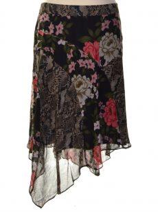 INC Plus Size 22W Black Asymmetrical Skirt
