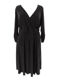 NY Collection Plus Size 1X Black A-Line Dress