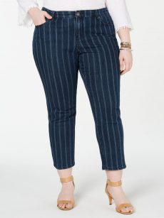 Style & Co. Plus Size 16W Navy Ankle Jeans