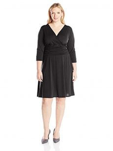 NY Collection Plus Size 3X Black A-Line Dress