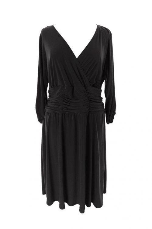 NY Collection Plus Size 3X Black A-Line Dress
