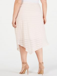 Alfani Plus Size 14W Pink Asymmetrical Skirt
