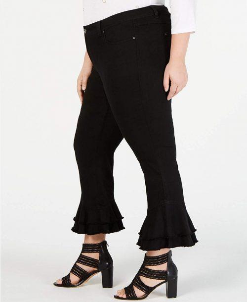 INC Plus Size 24W Black Ankle Jeans