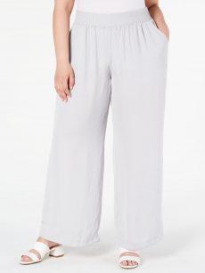 Alfani Plus Size 0X Gray Wide Leg Pants