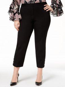 Alfani Plus Size 24W Black Ankle Pants