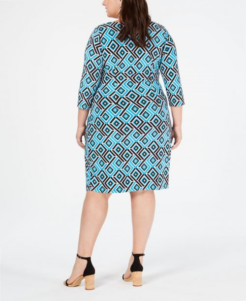 INC Plus Size 3X Blue Wrap Dress