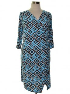 INC Plus Size 0X Blue Sheath Dress