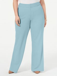 INC Plus Size 24W Light Blue Wide Leg Pants
