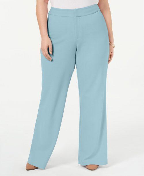 INC Plus Size 24W Light Blue Wide Leg Pants