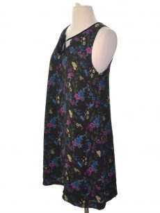 Kensie Women Size XS Black Multi Shift Dress