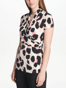 DKNY Women Size XS Multi Pullover Top