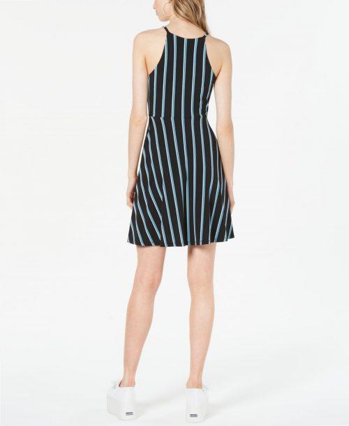 Bar III Women Size Medium M Black Halter Dress