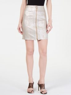 INC Women Size Large L Gold Mini Skirt