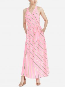 Rachel Roy Women Size Medium M Neon Pink Maxi Dress