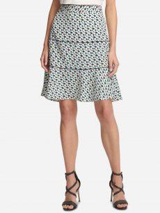 DKNY Women Size 6 Multi Flounce Skirt