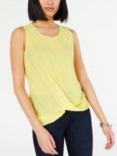 INC Women Size Medium M Yellow Tank Top