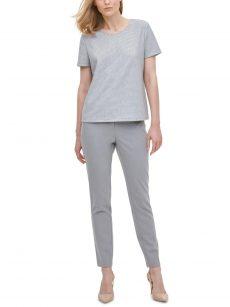 Calvin Klein Women Size XL Silver Pullover Top