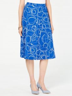 Alfani Women Size 4 Royal Blue A-Line Skirt