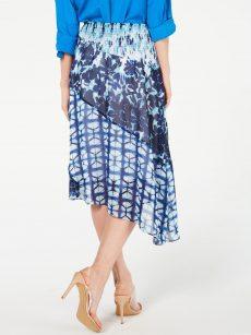 INC Women Size Medium M Blue Asymmetrical Skirt