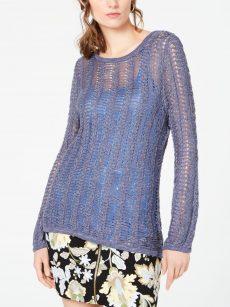 INC Women Size Medium M Navy Pullover Sweater