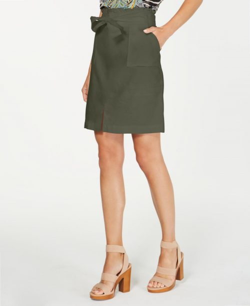 INC Women Size Large L Washed Green Casual Skirt